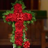 Standing Spray - Rose Cross