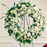 White Standing Wreath