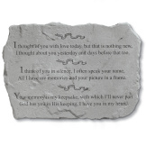 Garden Accent Stone - 'I thought of you'