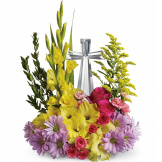 Crystal Cross Bouquet (Deluxe)