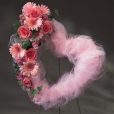 Pink Tulle Standing Heart