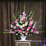 White & Pink Sympathy Basket