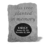 Garden Accent Stone Personalized- This tree planted…
