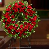 Standing Spray - Rose Wreath