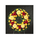 Red & Yellow Standing Wreath