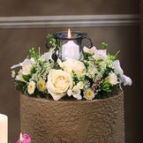 Sympathy Candle Arrangement with Keepsake Candle