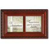 In Remembrance Woodgrain Petite Music Box