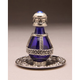 Roma Silver Banded Tear Bottle with FREE Matching Tray