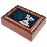 Little Children Woodgrain Music Box
