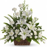 Peaceful White Lilies Basket (Standard)