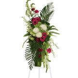 Gerberas and Palms Spray (Standard)