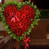 Standing Spray - Rose Heart