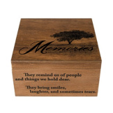 """Memories"" Keepsake Memory Box"
