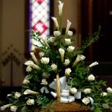 Fireside Basket - White Rose and Calla
