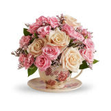 Victorian Teacup Bouquet (Deluxe)