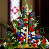 Fireside Basket - Red, White and Blue