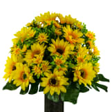 Yellow Sunflowers (Silk Cemetery Flowers)