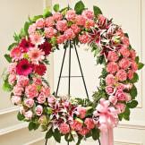 Pink Standing Wreath