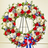 Red, White & Blue Standing Wreath