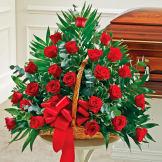 Red Rose Fireside Basket