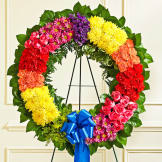 Multicolor Bright Specialty Wreath
