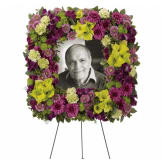 Mosaic of Memories Square Easel Wreath (Standard)