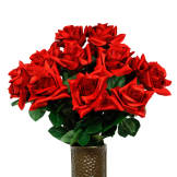 Red Diamond Rose (Silk Cemetery Flowers)