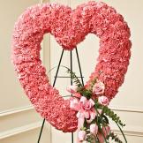 Pink Standing Open Heart