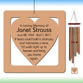 Heart Wind Chime - Personalized