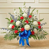 Red, White & Blue Sympathy Floor Basket