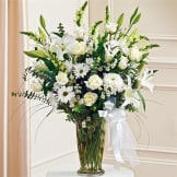 White Large Vase Arrangement