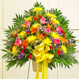 Multicolor Bright Sympathy Standing Basket