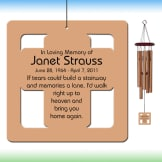Cross Wind Chime - Personalized