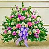 Lavender & White Sympathy Floor Basket