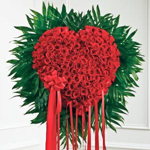 Standing Red Rose Bleeding Heart