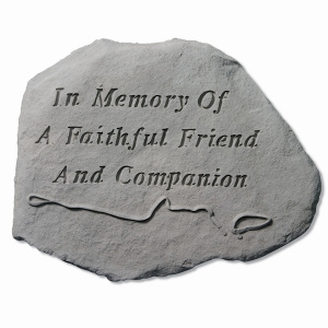 Garden Accent Stone - In Memory of…/empty leash & collar