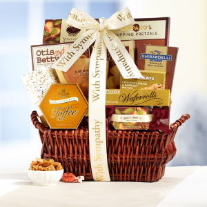 With deepest sympathy gift basket gift baskets food with deepest sympathy gift basket negle Gallery