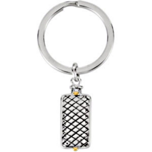 Woven Rectangle Ash Holder Key Chain