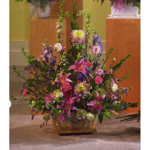 Pink and Purple Mixed Basket