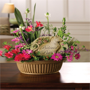 Remembrance Pet Garden Basket