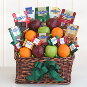 Ghirardelli & Fruit Condolences Gift Basket