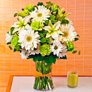 Serene Green™ Bouquet For Sympathy