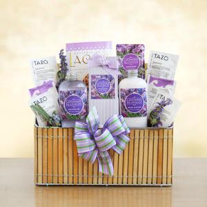Fields of Lavender Condolences Basket