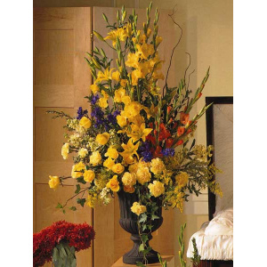Yellow Mixed Floral Urn