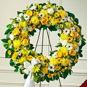 Yellow & White Standing Wreath