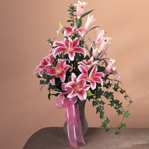 Stargazer Lily Vase Arrangement