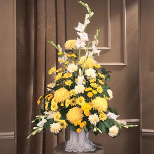Yellow Traditional Mache Arrangement