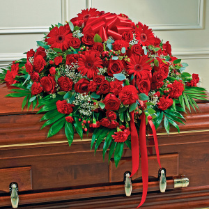 Red Mixed Half Casket Cover