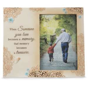 "Treasured Memory - 8"" x 7"" Frame (Holds 4x6 Photo)"