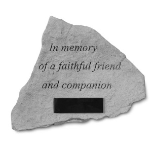 Garden Accent Stone- In Memory of…